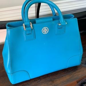 GUC Authentic turquoise Tory Burch purse